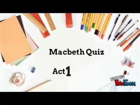 Macbeth Unit Test Study Question and Answers Macbeth
